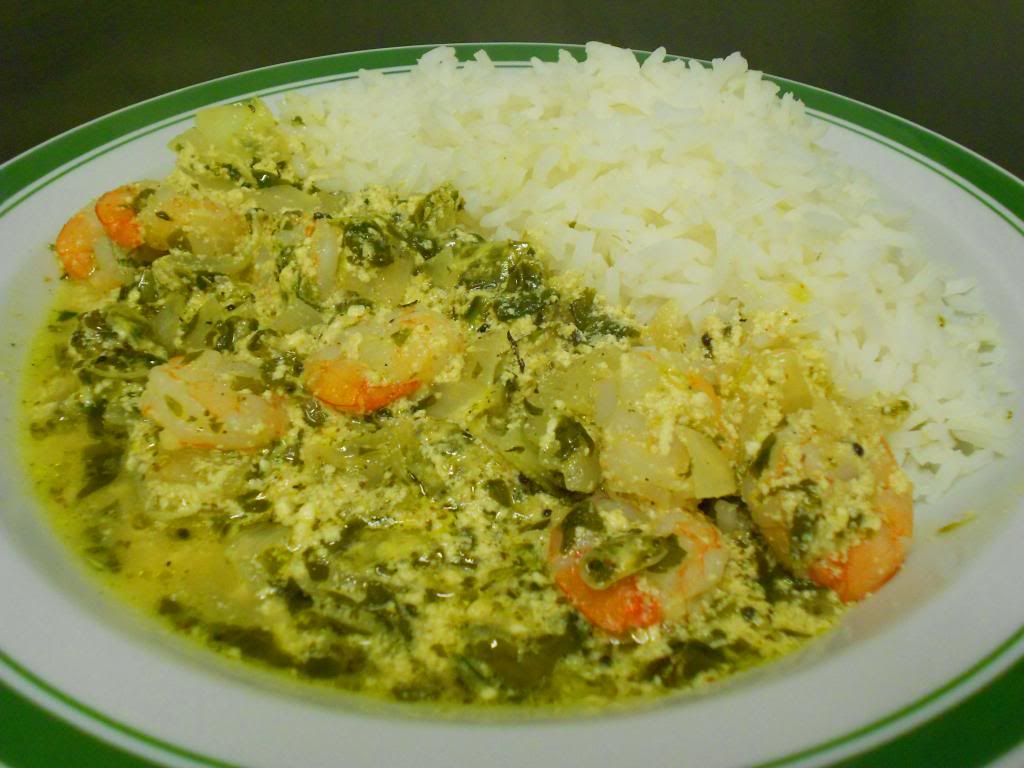 Prawns in Yogurt Curry with Rice