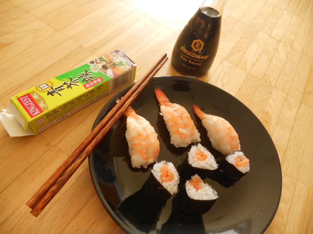 Shrimp & Salmon Sushi