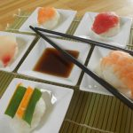 Nigiri Sushi with Red Tuna, Salmon, Shrimp and Tilapia