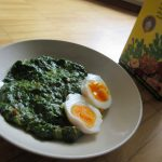 Palak methi Anda (Eggs in Spinach and Fenugreek sauce)