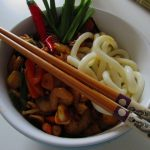 Hot Shrimp & Udon in Oyster sauce