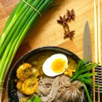 Soba noodles with Thai prawn and coriander curry