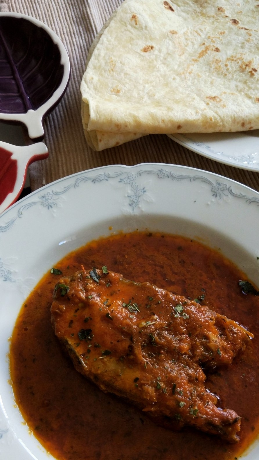Tilapia in Bengali curry