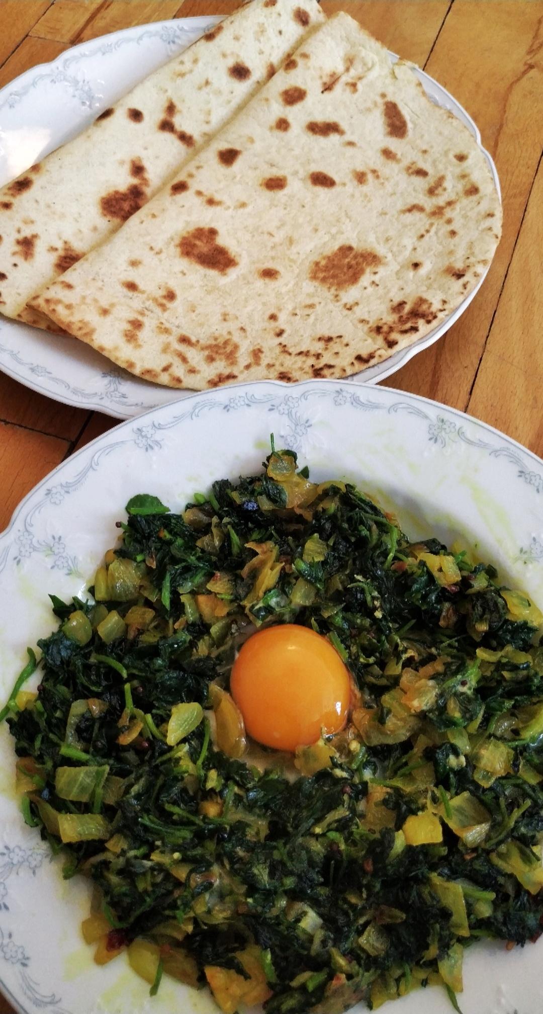 Methi omlet