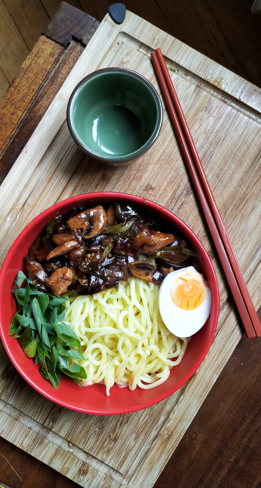 Ramen with Aubergine chicken sauce